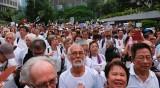 И възрастните жители на Хонконг излязоха на протест