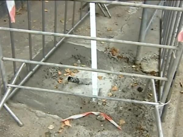 Снимка: Незрящи жени попаднаха в дупка на тротоар, била за пътен знак