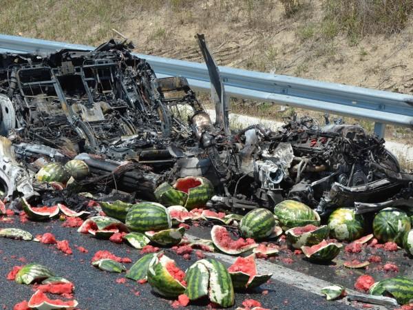"""Тежка катастрофа стана този следобед на магистрала """"Марица"""", съобщава bTV."""