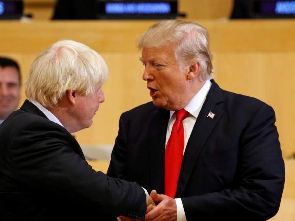Президентът на САЩ Доналд Тръмп поздрави Борис Джонсън за избирането
