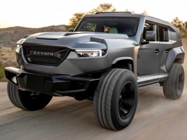 Компанията от Калифорния Rezvani представи най-мощния и най-екстремен джип в