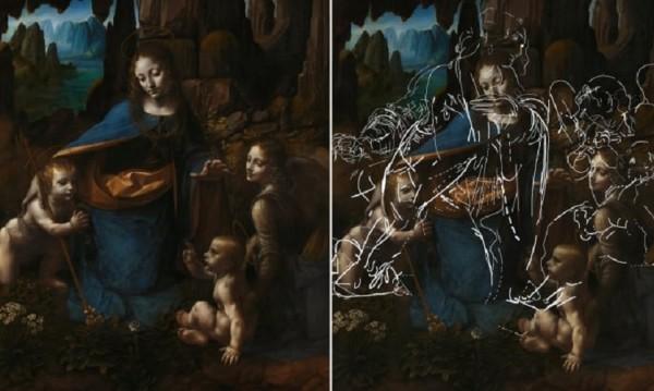 """Мистериите на Да Винчи: Картина под картината в """"Девата на скалите"""""""