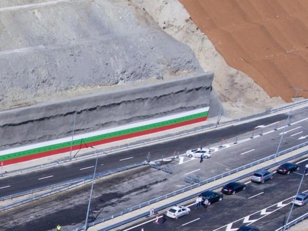 """Заради пожара, който повреди колоните на участък от магистрала """"Струма"""","""