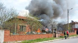 Възрастна жена почина при пожар в Пловдивско