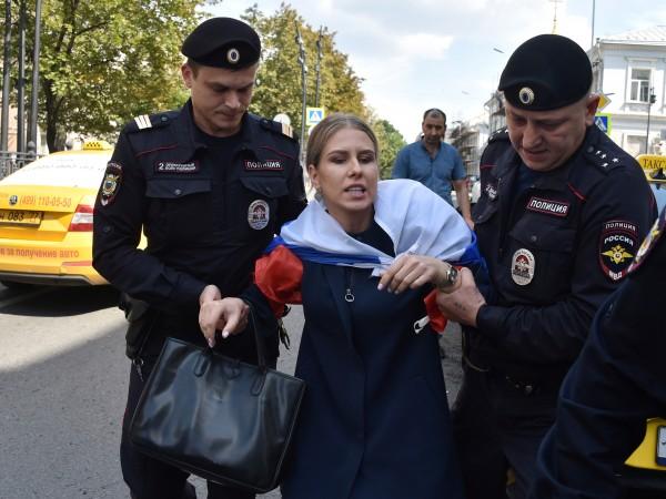 Снимка: Любов Собол – новият лидер на демонстрациите в Москва
