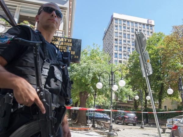 Сигналът за бобма в централната сграда на Българската национална телевизия