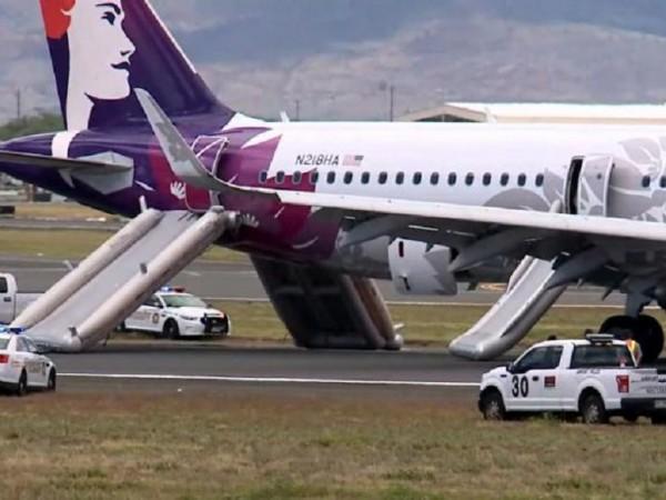 Седем пътници бяха откарани в болница при аварийно кацане на