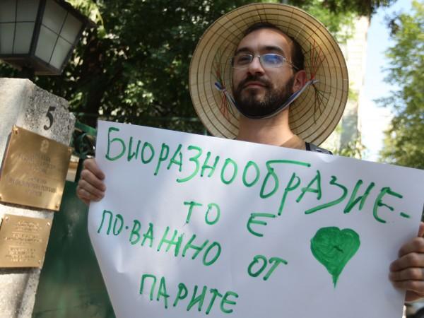 Снимка: На протест пред посолството на Бразилия заради Амазонка