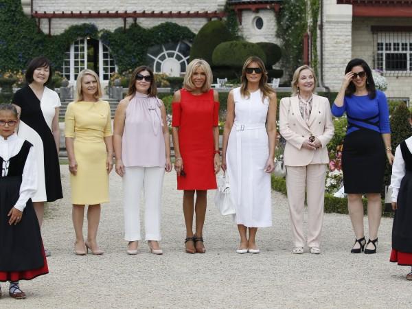 Мелания Тръмп, Брижит Макрон и останалите съпруги на лидерите, участващи