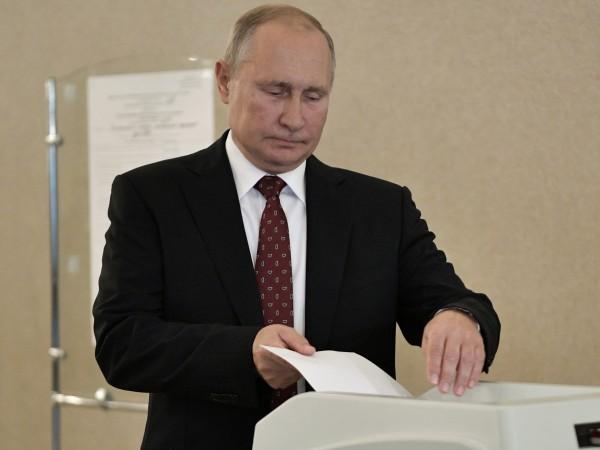 Руската управляваща партия Единна Русия, която подкрепя руския президент Владимир