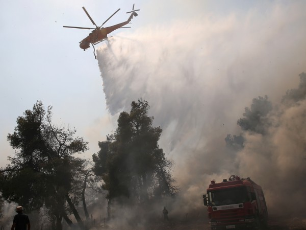 Над 160 огнеборци се борят да овладеят голям пожар, който