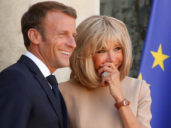 Брижит Макрон, съпругата на френския президент Еманюел Макрон, ще се
