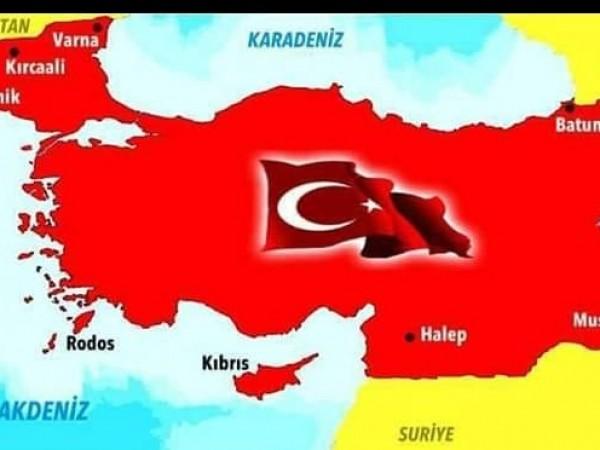 Според арабиста Владимир Чуков картата на Турция, обхващаща територии и