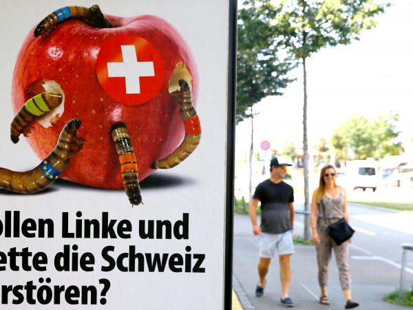 Доминиращите в Швейцария популисти според прогнозите ще изгубят част от
