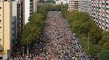 Стотици хиляди на протест в Каталуния
