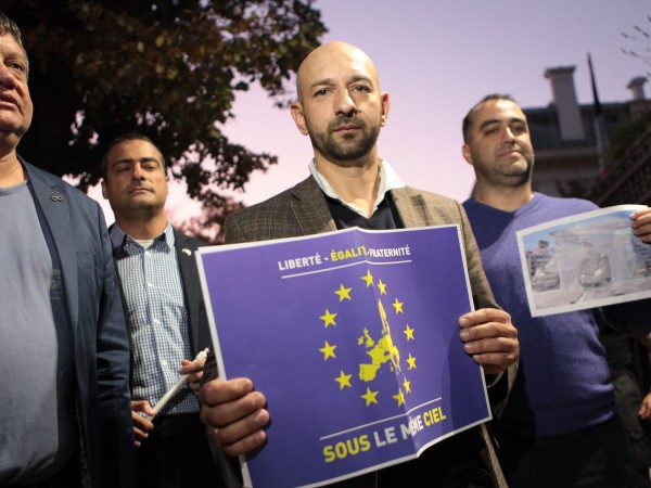 Пред френското посолство в София се проведе мирно бдение под