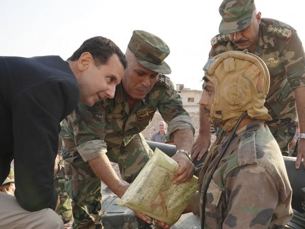 Сирийският президент Башар Асад заяви днес при неочаквано посещение в