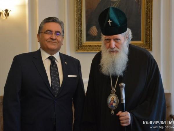 Българският патриарх Неофит се срещна с досегашния посланик на Турция