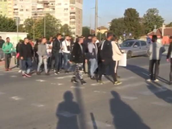 Протест в Русе днес. В час пик над 50 души