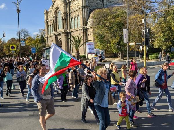 Родители от няколко български града се включиха в националния протест