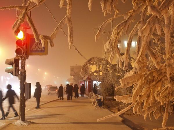 В Якутия – в североизточната част на Сибир, температурите днес