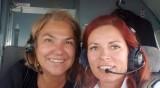 Марта Вачкова със селфи от пилотска кабина
