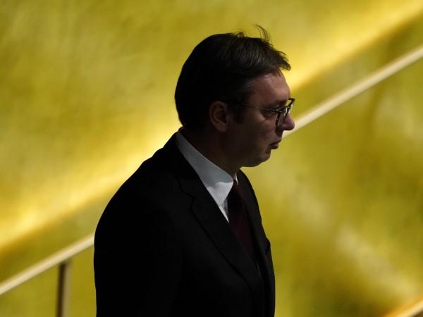 Сръбският президент Александър Вучич, който беше приет в болница със