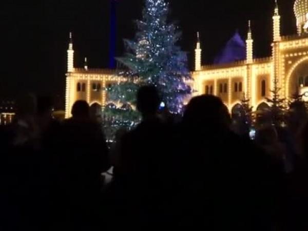 Коледна елха, украсена с 3 000 Сваровски кристали, вече краси
