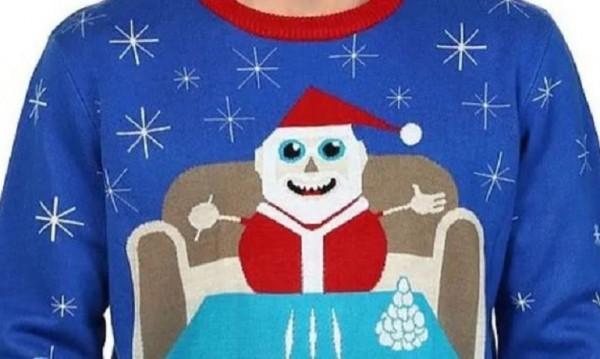 Пуснаха пуловери на Дядо Коледа с линии от кокаин