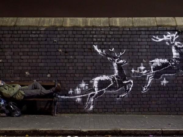 Уличният художник Банкси отново привлече внимението със свое произведние, съобщи