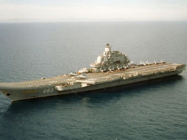 """Пожар избухна на борда на единствения руски самолетоносач """"Адмирал Кузнецов"""","""