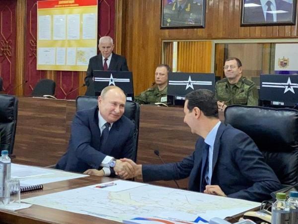 Руският президент Владимир Путин посети Дамаск, съобщи говорителят на държавния
