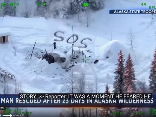 Мъж от Аляска оцеля като по чудо цели 23 дни