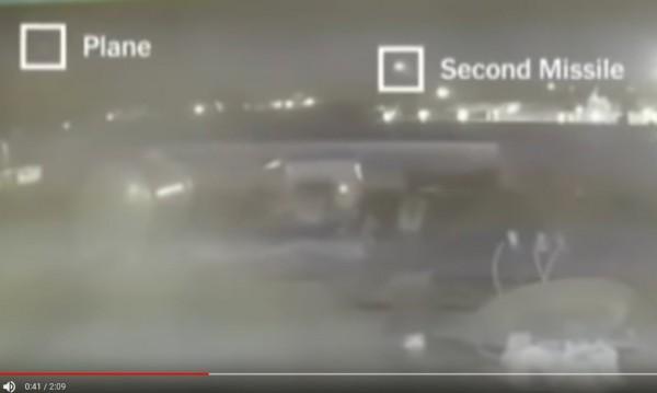 Ново видео разкрива: Две ракети са ударили самолета в Иран