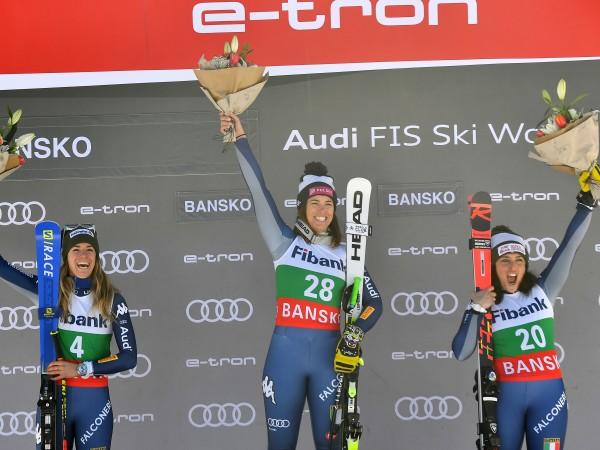 Италианки окупираха първите три места във второто спускане за Световната
