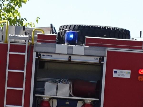Екипи на пожарната в Горна Оряховица и служители на сектор