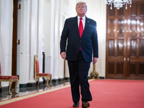Президентът Доналд Тръмп е записан по време на частна среща