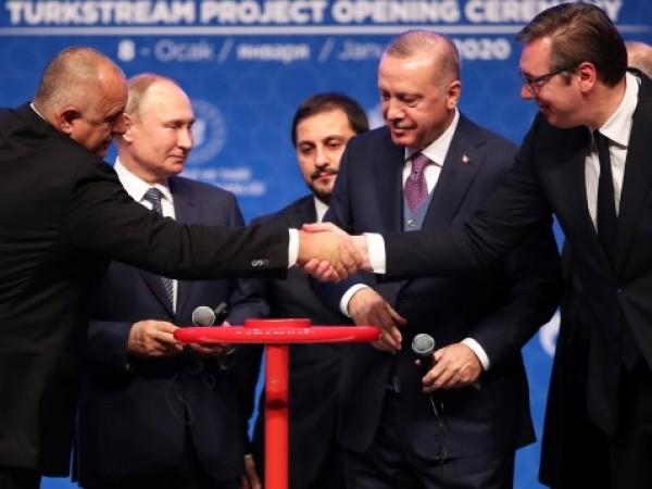 """Газпром"" достави първия милиард кубични метра газ по ""Турски поток"","