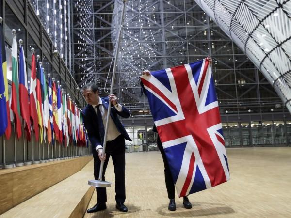 Флагът на Великобритания бе снет от сградата на Европейския съвет,