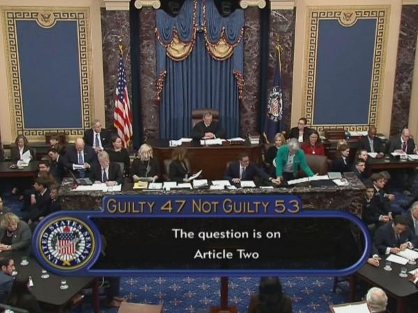 Сенатът на САЩ оправда президента Доналд Тръмп в процеса по