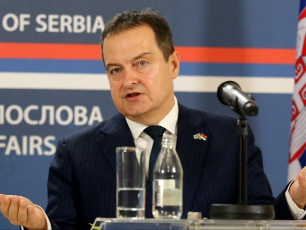 Сръбският вицепремиер и външен министър Ивица Дачич обяви, че страната