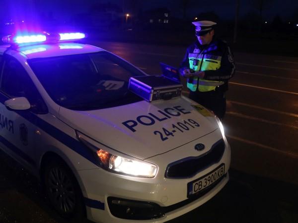 Полицаите от Велико Търново спипаха почерпен шофьор тази нощ във