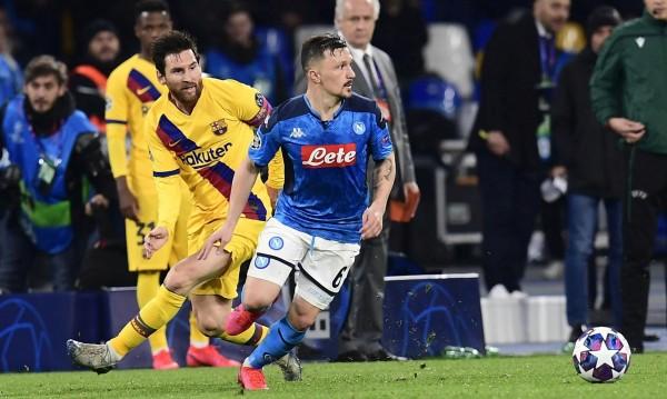 Барселона и Наполи направиха 1:1, картони за каталунците