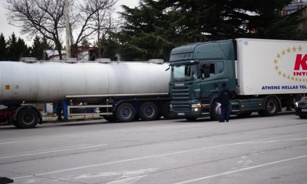 """Километрична опашка от камиони на ГКПП """"Кулата"""""""