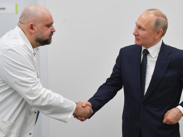 Руски лекар, който миналата седмица разговаря с президента Владимир Путин,
