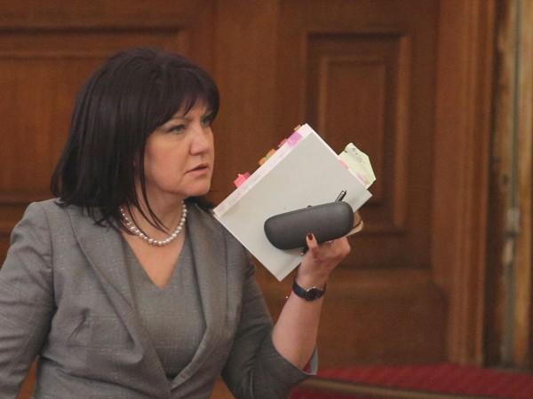 Вчера председателят на Народното събрание Цвета Караянчева заяви, че замразяването