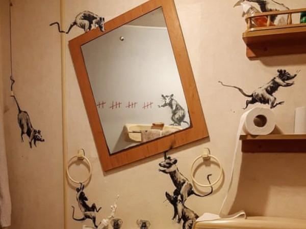 Дори световноизвестният графити майстор Банкси работи от комфорта на дома