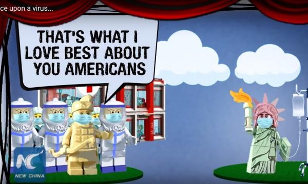 """Китай се подигра със САЩ с филма """"Имало един вирус"""" с лего фигурки"""