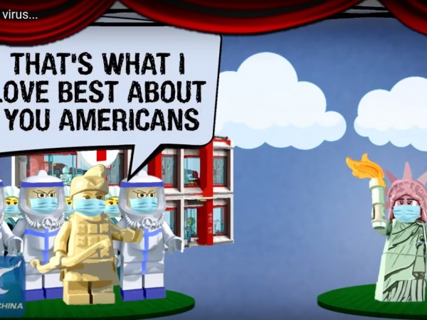 """Китай разпространи анимацията """"Имало един вирус"""" с лего фигурки, в"""