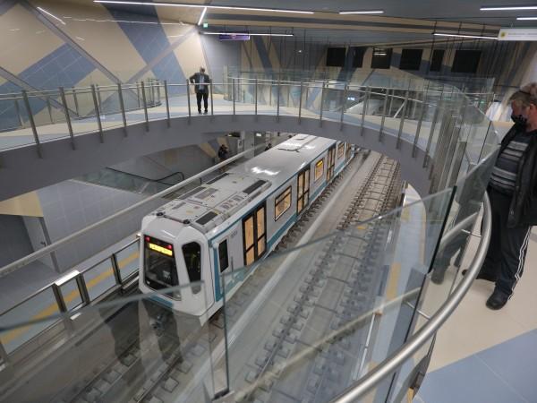 Пускането на първия участък от третата линия на метрото в